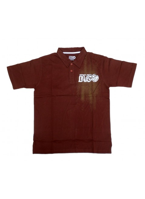 DVS POGO brown polo triko
