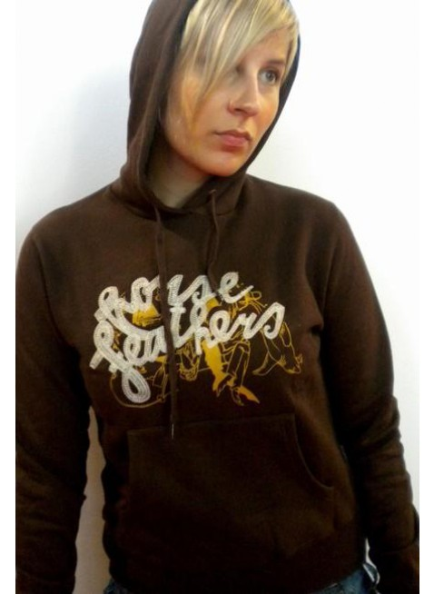 Dámská Mikina Horsefeathers jaws woman hooded brown
