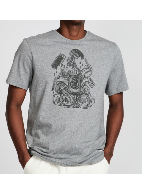 triko Element By Hand T-Shirt - Timber! Spilt Paint Collection