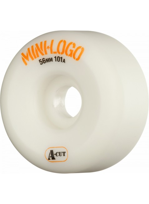 kolečka Mini Logo Skateboard Wheels A-cut 56mm 101A White 4pk