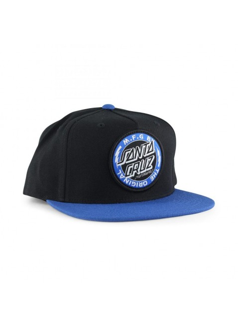 Kšiltovka Santa Cruz Classic Dot Cap Black/Strong Blue