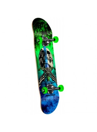 Powell Peralta Skull and Sword Storm Complete Skateboard Green/Blue - 7.88