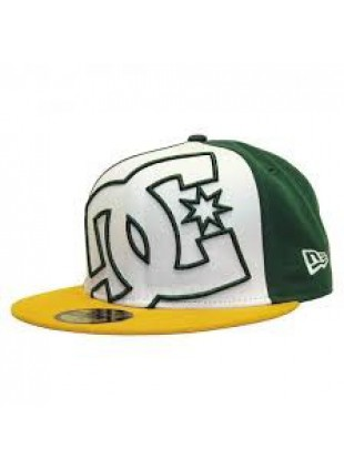 kšiltovka DC Coverage II New Era 7 1/4 white/green/yel