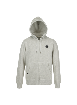 mikina electric volt zip light heather grey