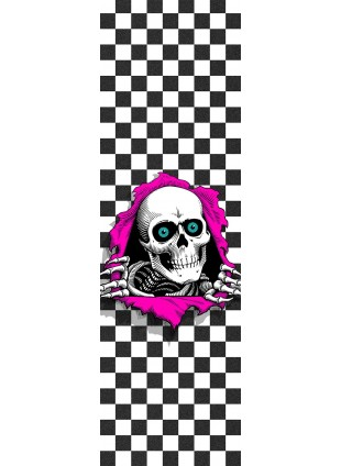 Powell Peralta Grip Tape Sheet 9 x 33 Ripper Checker (White)