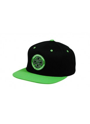 Kšiltovka Independent Coloured TC Cap black green