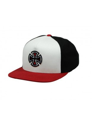 Kšiltovka Independent Crossbar Snapback red black white