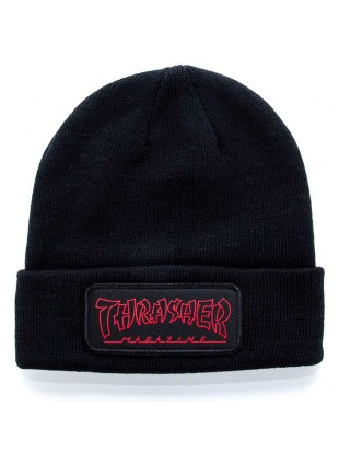 čepice Thrasher Logo Patch Beanie black
