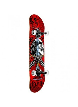 Powell Peralta SKull & Sword One Off '15' Skateboard Complete Assembly Red/White - 7.75 x 31.75