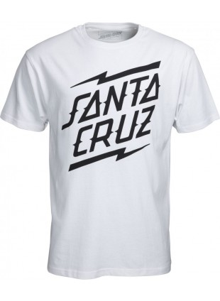 Triko Santa Cruz Bolt Stack tee white