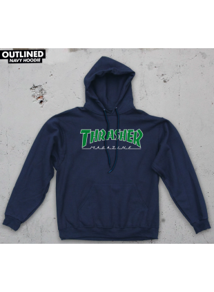 Mikina Thrasher Outlined Mag Logo Hoody Navy