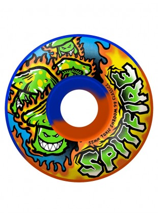 kolečka Spitfire TOXIC SHROOMS ORANGE/ROYAL 50-50 SWIRL