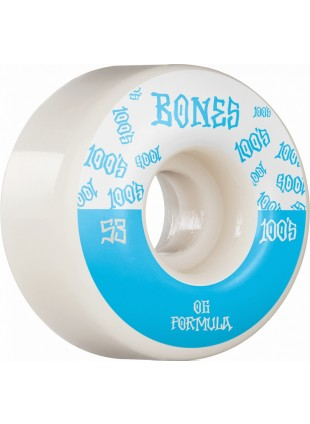 kolečka BONES Wheels 100´s #13 53MM OG FORMULA V4 WIDE White