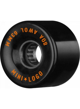 kolečka Mini Logo AWOL Skateboard Wheels 63mm 80A Black 4pk