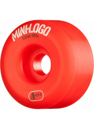 kola Mini Logo Skateboard Wheel A-cut 54mm 101A Red 4pk