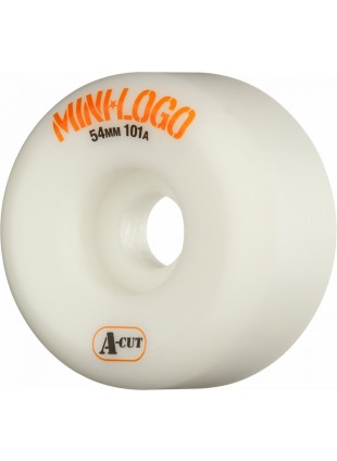 kola Mini Logo Skateboard Wheel A-cut 54mm 101A White 4pk