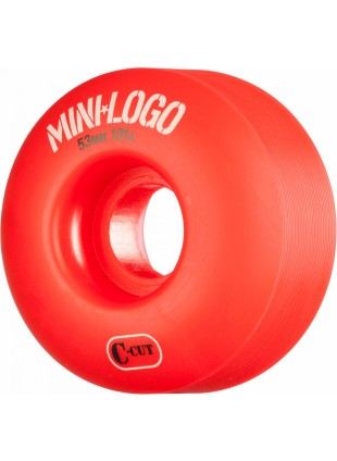 kola Mini Logo Skateboard Wheel C-cut 53mm 101A Red 4pk