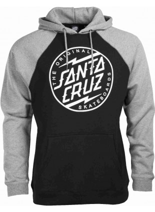 Mikina Santa Cruz Bolt Hood black dark heather