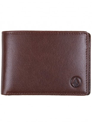 Peněženka Volcom Leather Qallet brown