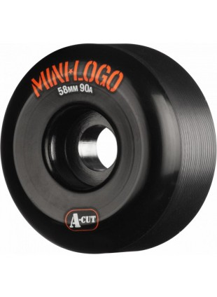 Kolečka Mini Logo Skateboard Wheel A-cut 58mm 90A Black 4pk